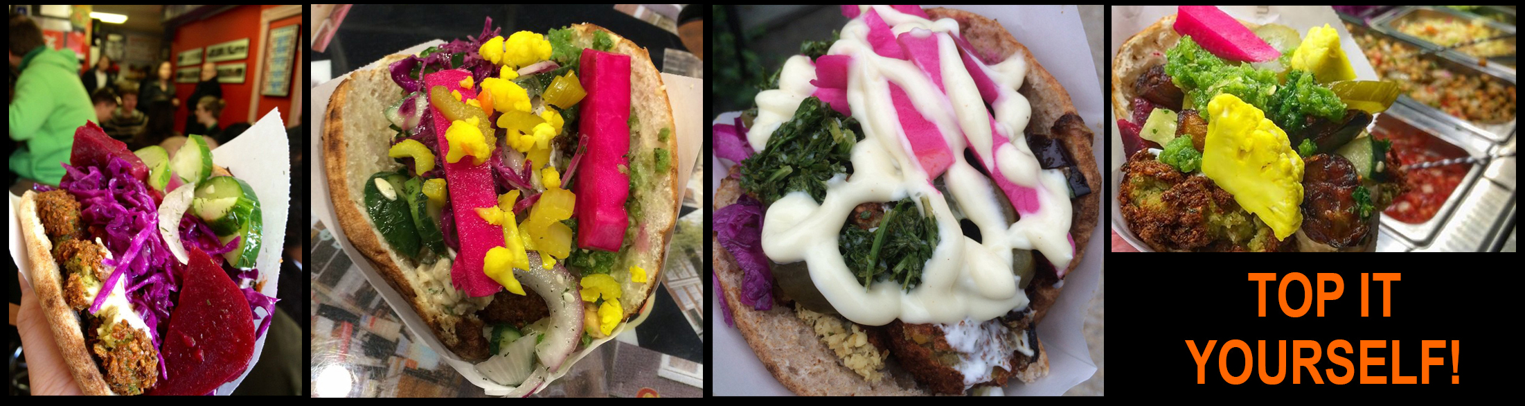 Images of Pita Sandwiches at AMsterdam Falafelshop