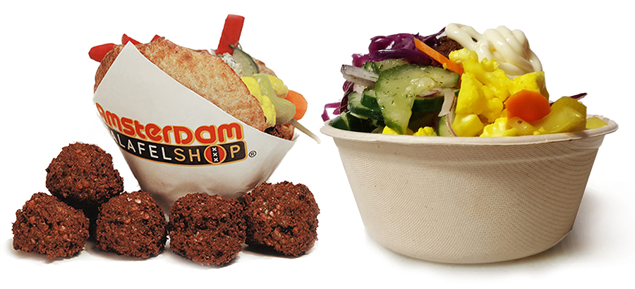 Falafel Sandwich and Bowl of Falafel